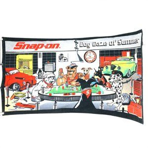 Snap On Tools Dog Daze of Summer Poker Beach Towel